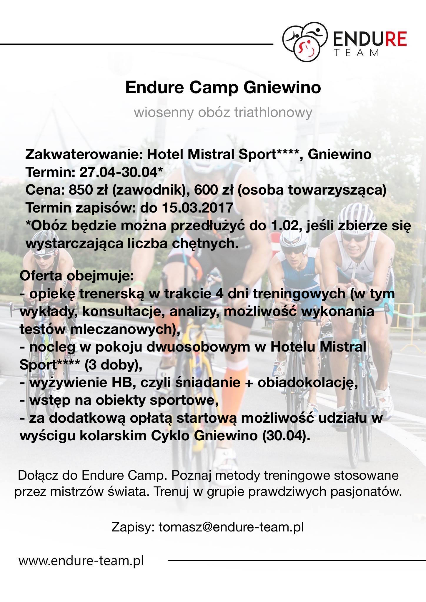 Endure Camp Gniewino - oferta